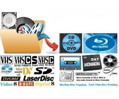 Kopiering  til DVD hi8, smallfilm
