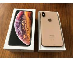 Apple iPhone XS 64GB = $450USD  , iPhone XS Max 64GB = $480USD ,iPhone X 64GB  $350