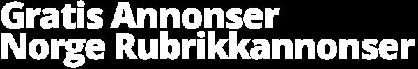 Gratis Annonser – Norge Rubrikkannonser